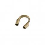Drahtschutzbügel (10 Stück), 7mm, geschwungene Form, bronzefarben