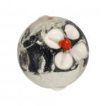 Glasperle (Leuchtperle), 15mm, schwarz