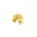 Verdeckperle (10 Stück), 3X1,5mm, rund, hellgoldfarben
