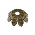 Perlenkappe, 11mm, rund, bronzefarben