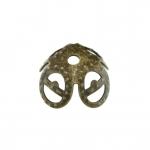 Perlenkappe, 8mm, rund, bronzefarben