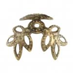 Perlenkappe, 12mm, rund, bronzefarben