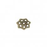 Perlenkappe, 6mm, rund, bronzefarben