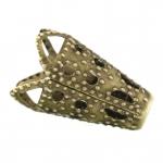 Perlenkappe, 16X16mm, konisch, bronzefarben