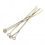 Kettelstifte (100 Stück), 50X0,7mm, Stäbchen (Stiftform), bronzefarben