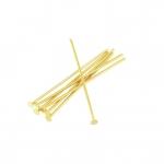 Nietstifte (100 Stück), 34X0,7mm, Stäbchen (Stiftform), goldfarben