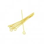 Kettelstifte (100 Stück), 34X0,7mm, Stäbchen (Stiftform), goldfarben