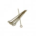 Kettelstifte (100 Stück), 34X0,7mm, Stäbchen (Stiftform), bronzefarben