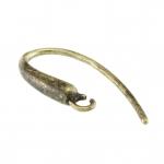 Ohrhaken, 17X10mm, asymmetrisch, bronzefarben