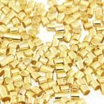 Quetschperle (500 Stück), 1,5X1,5mm, Zylinder, hellgoldfarben