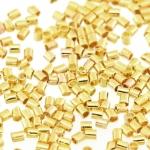 Quetschperle (500 Stück), 1,2X1,2mm, Zylinder, hellgoldfarben