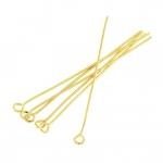 Kettelstifte (100 Stück), 50X0,7mm, Stäbchen (Stiftform), goldfarben
