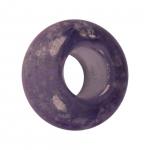 Großlochperle (phosphorisierend), Glas, 14mm, violett