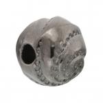 Perle, 9mm, rund, antik silberfarben