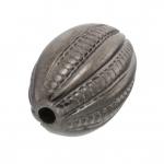 Perle, 14X9mm, oval, antik silberfarben