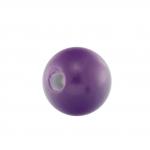 Kunststoffperle, 8mm, rund, dunkelviolett
