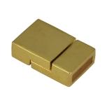 Magnetverschluß, 21mm, Loch-Ø 10X3mm, goldfarben