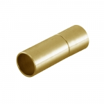 Steckverschluß, 16X5mm, Loch-Ø 4mm, Metall, silberfarben