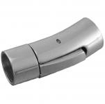Verschluß, 30X10mm, Loch-Ø 8mm, Edelstahl, silberfarben