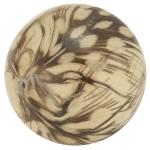 Designerperle mit Federn, 30mm, eierschalen weiß