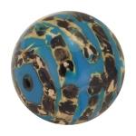 Designerperle mit Napiergras, 25mm, jeansblau