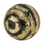 Designerperle mit Napiergras, 25mm, schwarz