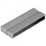 Magnetverschluß, 48mm, Loch-Ø 45X4mm, silberfarben
