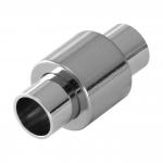 Magnetverschluß, 20X11mm, Loch-Ø 6mm, Metall, silbefarben
