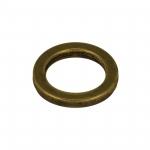 Zierring, Metall, 14mm, bronzefarben