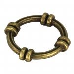 Großer Zierring, Metall, 24mm, bronzefarben