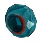 Großlochperle, Glas, 13mm, safirtürkis