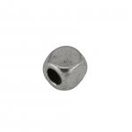 Metallperle, 4X3mm, silberfarben