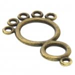 Verbinder (Chandelier), 5 Fädelösen, 30X18mm, bronzefarben