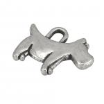 "Metallanhänger ""Hund"", 15X12mm, silberfarben"