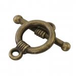 Knebelverschluß, 16X11mm, Metall, bronzefarben