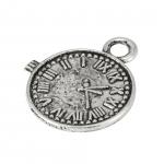 """Metallanhänger """"Uhr"""", 19X16mm, silberfarben"""