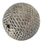 Perle aus Leder, 25mm, rund, naturfarben