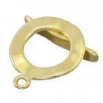 Knebelverschluß, 23X19mm, Metall, goldfarben