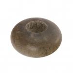 Großlochperle aus Holz (Grey Wood), 12mm, rund, walnussbraun