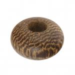 Großlochperle aus Holz (Robles Wood), 12mm, rund, kupferbraun