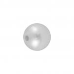 Wachsperle aus Kunststoff (10Stück), 4mm, rund, weiß