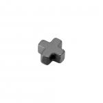 Hematite Perle (Kreuz), 4X4mm, Halbedelstein, silberfarben