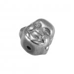 Hematite Perle (Buddha), 8X8mm, Halbedelstein, silberfarben