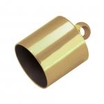 Endkappe mit Öse, Loch-Ø 10mm, 10,5X14mm, goldfarben