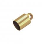 Endkappe mit Öse, Loch-Ø 3mm, 4X8mm, goldfarben