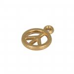 Peace-Anhänger Metall, 6mm, goldfarben