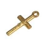Kreuz-Anhänger Metall, 18mm, goldfarben