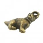 Anhänger, 15X10mm, Hund, bronzefarben