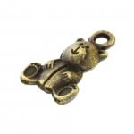 Anhänger, 15X10mm, Teddy Bär, bronzefarben