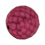 Perle aus Leder, 15mm, rund, pink